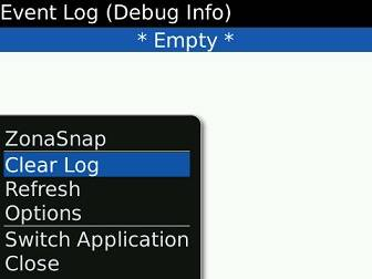Showing how to clear a BlackBerry log